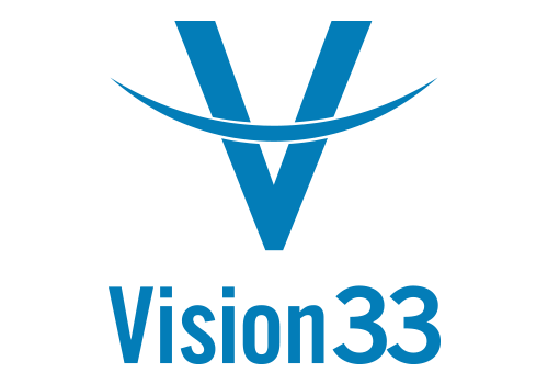 Vision33 brandmark