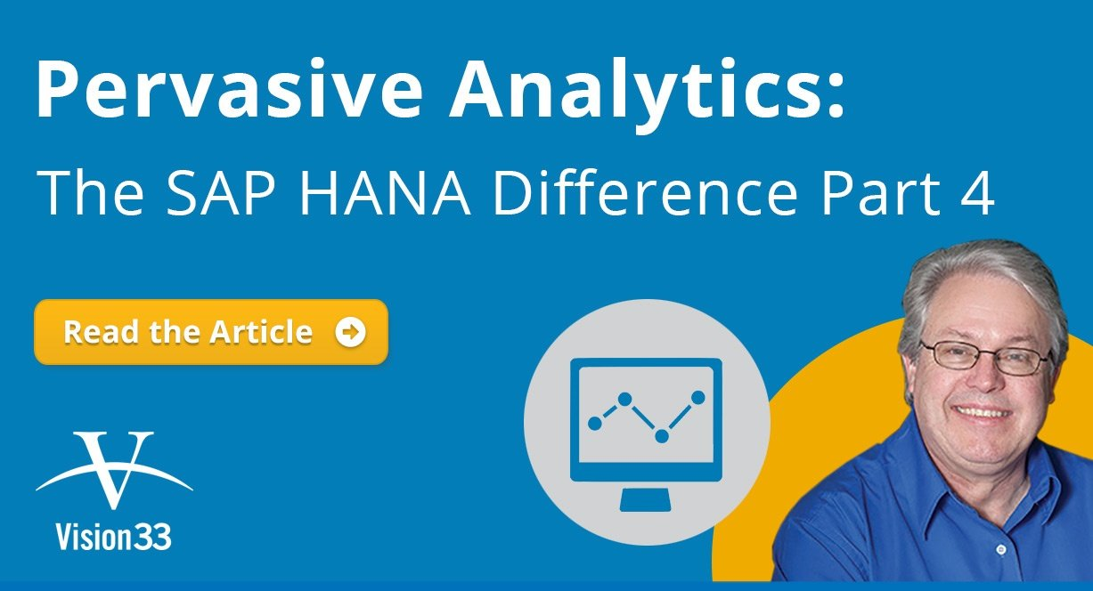 Introduction Pervasive Analytics in SAP Business One version for SAP HANA