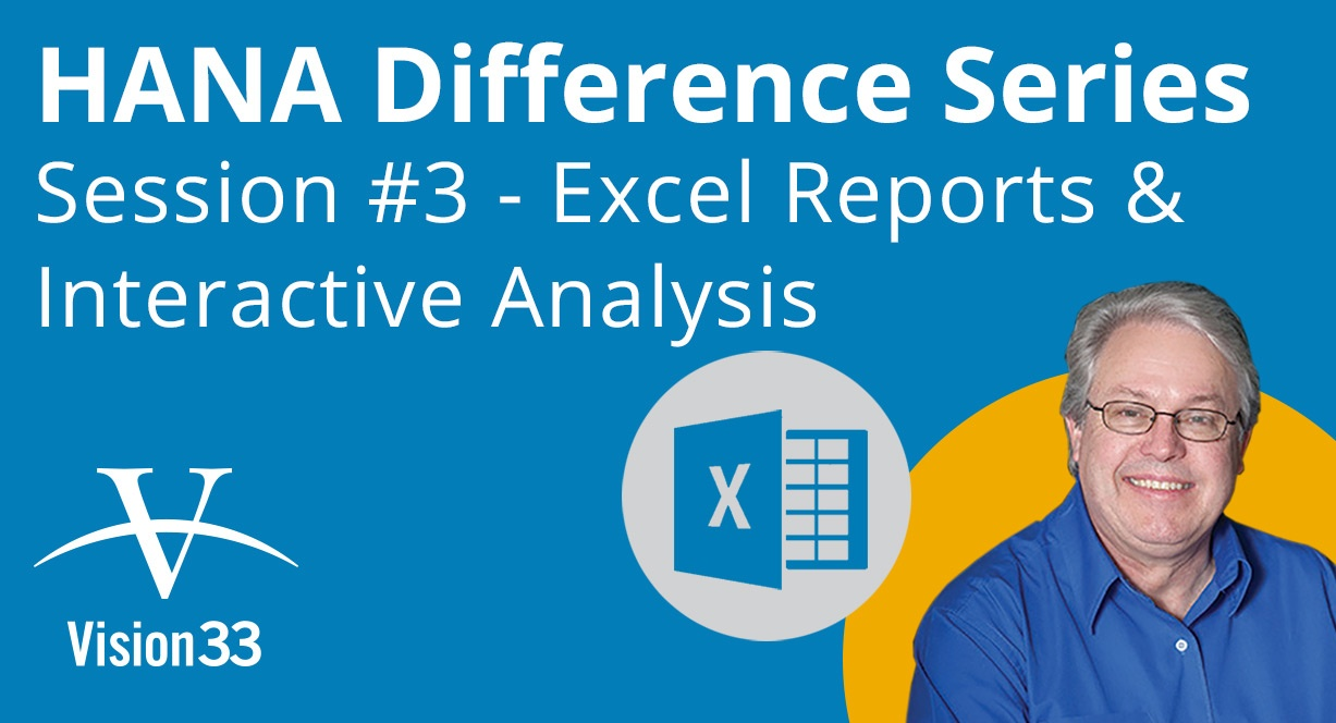 Work with Excel and Interactive Analysis in SAP HANA