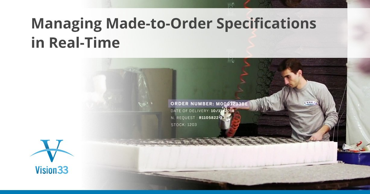 Managing Made-to-Order Specifications in Real-Time