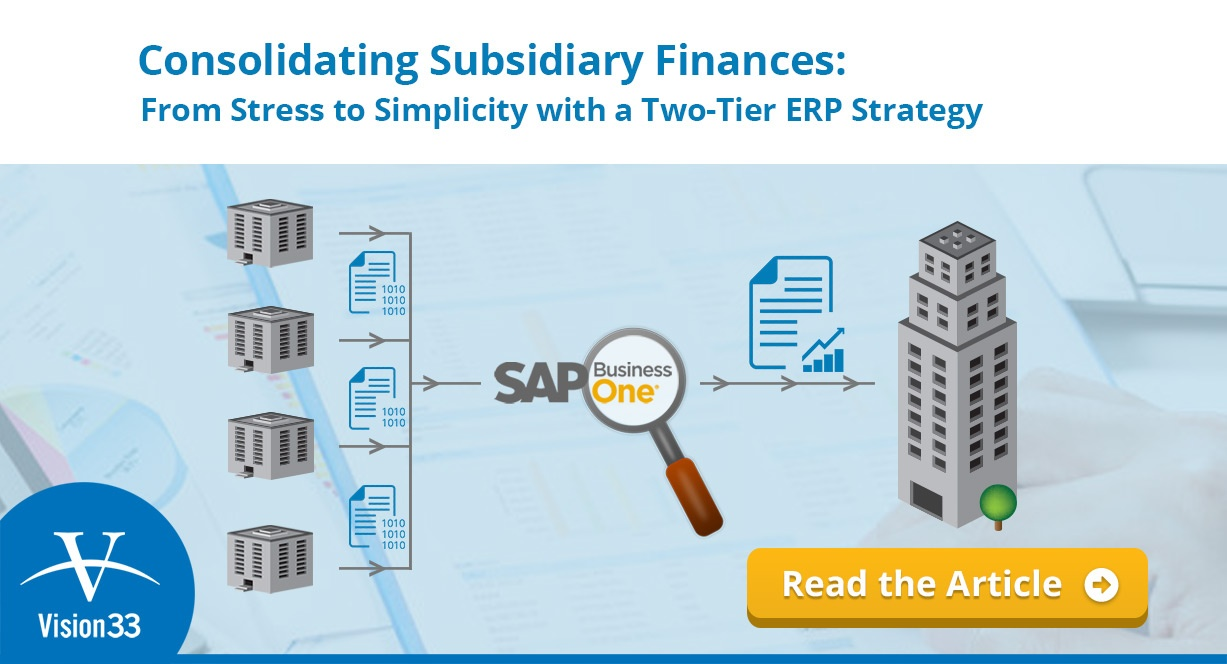 (UK) Consolidating Subsidiary Finances: From Stress to Simplicity with a Two-Tier ERP Strategy